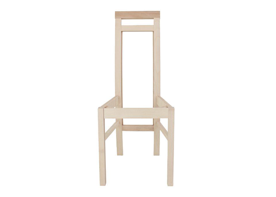 Stelaż krzesła wykonany z drewna bukowego.